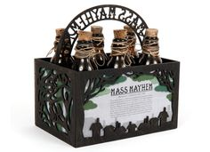 Mass Mayhem Beer Packaging by Toni Antonucci, via Behance  This is really awesome!