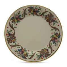 Lenox Holiday Tartan Gold Banded Ivory China Dinner Plate by Lenox. $44.00. Measures 10-1/2-inches. Made in USA. Crafted of Lenox ivory fine china. Safe to use in dishwasher. Accented with 24 karat gold. Accent your table with holiday splendor. And what could be more festive than colorful tartan ribbon and bows, fruits and acorns, holly and berries! This stunning dinner plate brings a rich dimension to Holiday dinnerware, making every get-together more memorable.