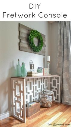 This beautiful fretwork console is designed by Jen Woodhouse. Follow along and I'll show you step by step how you can build one for yourself!