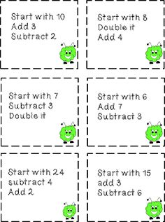 Freebie...Mental Math Cards from Teaching 4 real- maybe adapt for 1st grade math center idea