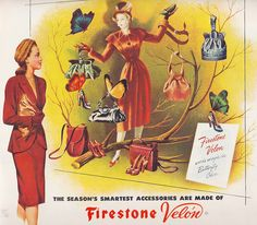 Such a marvelously lovely display of autumnal fashion accessories from 1946. #1940s #accessories #autumn