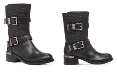 VINCE CAMUTO Welton Quilted Buckle Mid Shaft Boots