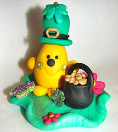 ST PATRICK'S Day Leprechaun PARKER Polymer Clay Figurine by @KatersAcres - ADOPTED