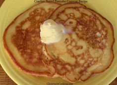 "A ""copycat"" version of the Cracker Barrel pancake recipe (because those are THE BEST PANCAKES EVER).."