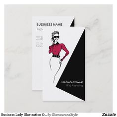 Business Lady Illustration Office Business Card Fashion Business Cards, Business Lady, Business Names, Business Card Logo, Business Card Design, Creative Business, Design Logos, Graphic Design, Logo Sketches