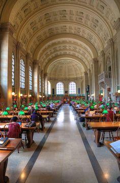 Biblioteca Pública de Boston. Sala de lectura
