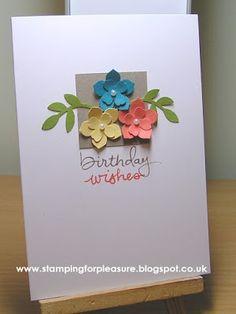 Stamping For Pleasure: SU Play Day Make & Takes & Swapsies Handmade Birthday Cards, Diy Birthday, Birthday Wishes, Handmade Cards, Quick Cards, Cool Cards, Diy Cards, Card Making Tips, Making Ideas