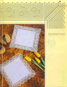 Платочек с вязаной крючком каймой 2 схема 2