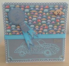 Father's day card using tattered lace classic car die