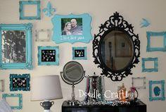 Doodle Craft...: Bedroom Gallery Wall!