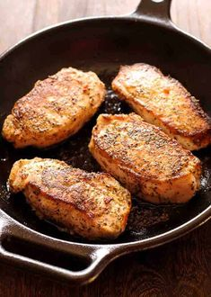 Easy Skillet Pork Chops With Gravy Family Food On The Table. Boneless Pork Chops In Creamy Garlic And Herb Wine Sauce . Easy Pan Fried Pork Chops Recipe Only 7 Ingredients And . Fried Boneless Pork Chops, Oven Roasted Pork Chops, Pan Fried Pork Chops, Roast Pork Chops, Seared Pork Chops, Cooking Pork Chops, Baked Pork, Stove Top Pork Chops, Easy Pork Chop Recipes