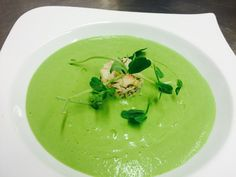 Dressed Crab Salad with Chilled Pea Veloute here at Kilcamb Lodge