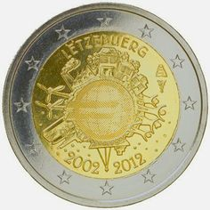 2 Euro Commemorative Coins Luxembourg 2012, Ten years of Euro cash