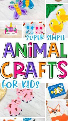 Ocean Animal Crafts, Animal Crafts For Kids, Spring Crafts For Kids, Toddler Crafts, Easy Art For Kids, Kids Fun, Kids Boys, Indoor Activities For Kids, Toddler Activities