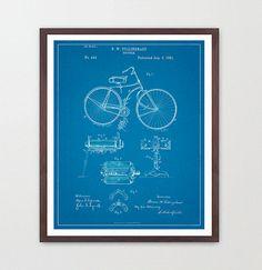 Bicycle Poster - Vintage Bicycles Patent - Bike Poster - Bike Art - Bicycle Print - Bicycle Wall Art