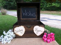 Large Rustic Wedding Card Box - Rustic Wooden Wedding Box - Shabby Chic Box…