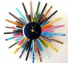 Sunburst Wall Clock,Trending Item, Paper Art, First Anniversary Gift, Large Clock, Home Decor, Home and Living, Housewares