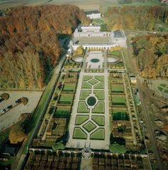 "Park and garden in ""le chateau de Seneffe"" in Belgium"