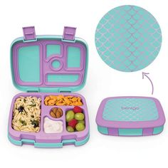 Bentgo Kids Prints (Mermaid Scales) - Leak-Proof, Bento-Style Kids Lunch Box - Ideal Portion Sizes for Ages 3 to 7 - BPA-Free and Food-Safe Materials Healthy Sweet Snacks, Nutritious Snacks, Bentgo Kids, Snacks Under 100 Calories, Boite A Lunch, Lunch Containers, Kids Prints, Bento Box, Clean Eating Snacks