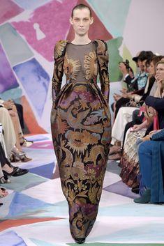 Couture Fall 2016 Trend: Florals | Schiaparelli Couture Fall 2016 [Photo: Giovanni Giannoni]