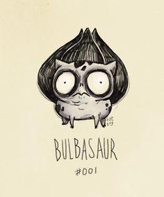 If Pokemon were drawn by Tim Burton.