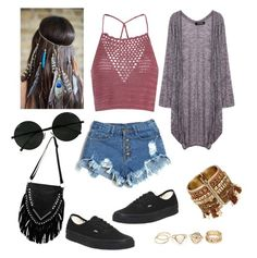 """""""Coachella for the win"""" by maria-plx on Polyvore featuring Vans and Glamorous"""