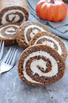 The most perfect combination of pumpkin spice cake and soft cream cheese frosting in every bite. This pumpkin roll comes together very qu...
