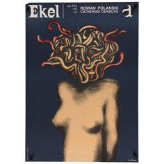 "1965 Vintage German ""Repulsion"" Film Poster"
