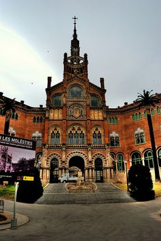 Hospital de Sant Pau  BCN, Unfortunately I was there because hit by a scooter...beautiful building though!