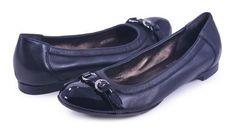 AGL Attilio Giusti Leombruni Nero Black Cap Toe Ballet Flat Shoe 38.5EU 8.5 New, Women's