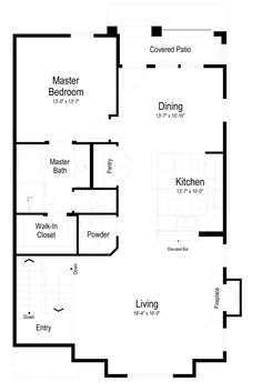 Floor Plan Ivory Home Town Home - Sheffield
