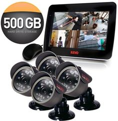 "Revo 4 Channel Security System with 4 x 420TVL 33' Night Vision, 10.5"" – itzaflash.com"