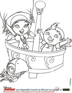 Coloriage DISNEY - IZZY et de FRISE : Jake et les pirates