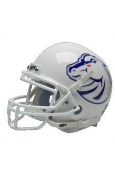 Boise State Broncos White Rival Mini Helmet