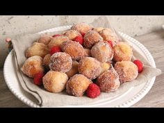Yogurt Zeppole Recipe - Laura in the Kitchen - Internet Cooking Show Starring Laura Vitale Donut Recipes, Dessert Recipes, Cooking Recipes, Desserts, Zeppole Recipe, Pumpkin Creme Brulee, Baked Doughnuts, Donuts, Chewy Brownies