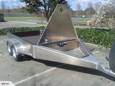 Heavy Duty Alloy Tandem trailer for sale on Trade Me, New Zealand's auction and classifieds website Work Trailer, Trailer Diy, Trailer Plans, Trailer Build, Utility Trailer, Trailer Hitch, Utv Trailers, Car Hauler Trailer, Off Road Camper Trailer