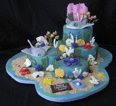 under the sea stingrays cake ~ awesome!