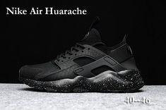 online store bc5ed e6a69 Classic Men's Nike Air Huarache Run Ultra PK4 KPU Winter Casual Sports Shoes  All Black