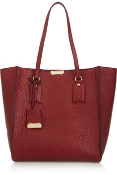 Burberry Shoes & AccessoriesTextured-leather trapeze tote $1195