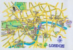 Mapa de atrações e Pontos Turísticos em Londres   Mapa de Londres - Guia turístico de Londres