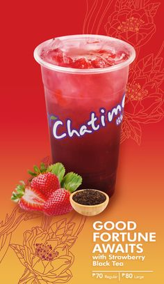 Want some strawberry? Take a sip of Chatime's Strawberry Black Tea! Head over to the Lower Ground Floor SM CITY SAN LAZARO!