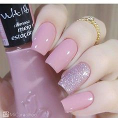 Unhas Artísticas, Unhas Decoradas, Unhas Com Pedras E Adesivos De Unhas Perfect Nails, Gorgeous Nails, Love Nails, Nails Polish, Gel Nails, Nail Nail, Nail Glue, Pink Nail, Stylish Nails