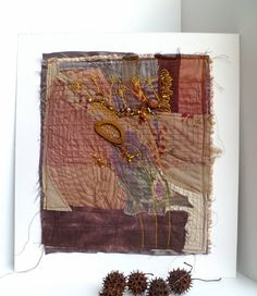 Machine and hand embroidery, hand-dyed fabric, beads