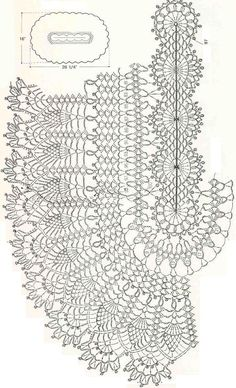 crochet pineapple border diagram | Found on 300105.gallery.ru