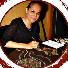Gnamma Hole by Michelle 'Wilura' Kickett Aboriginal Art Symbols, Aboriginal Artwork, Aboriginal Artists, Indigenous Australian Art, Indigenous Art, Australian Artists, Hollywood Actress Photos, Australian Painting, Popular Art