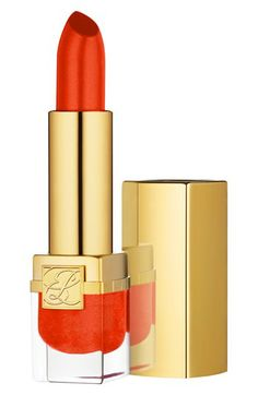 Estee Lauder Vivid Shine Pure Color LipstickFor a dramatic evening look, a bold red lip is the way to go.