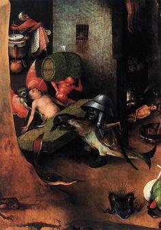 renaissance-art:  Hieronymus Bosch c. 1504-1508 Last Judgement Triptych (detail)