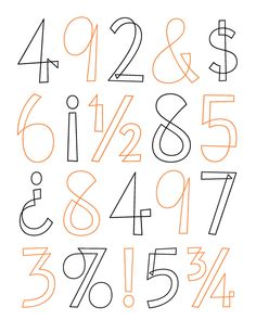 House Industries, Eames Century Modern, Eames Cover Numerals, Eames Numbers Specimen
