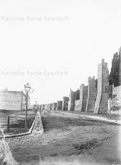 La nuova strada che costeggia le Mura Aureliane di Testaccio