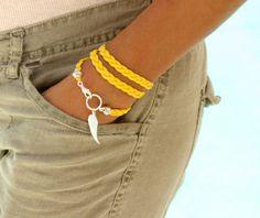 Handmade personalized bracelets at wholesale prices by WrappedinYou Bracelet Crafts, Cord Bracelets, Jewelry Crafts, Leather Jewelry, Beaded Jewelry, Jewellery, Suede Bracelet, Homemade Jewelry, Bijoux Diy